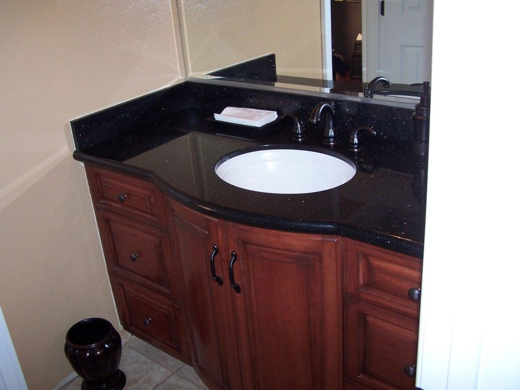 simple rich wood bathroom cabinets