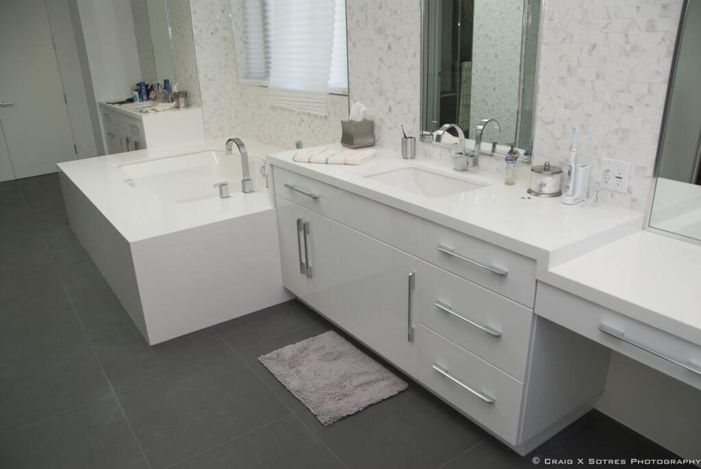 large white bathroom