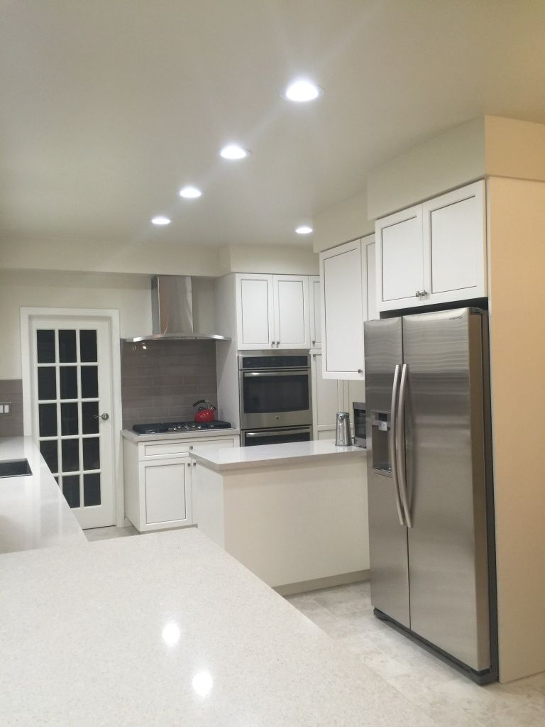 white traditional small kitchen remodel
