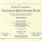 California Contractors License