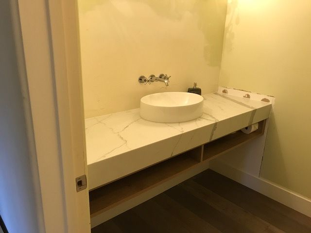 ie cabinets bathroom counter and sink installation