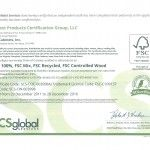 Forest Products Certification, SCS Certified