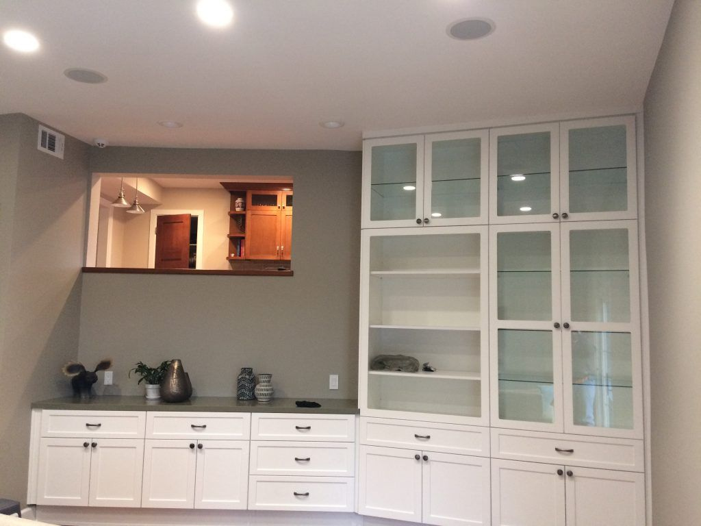 ie remodel hutch glass doors lighting