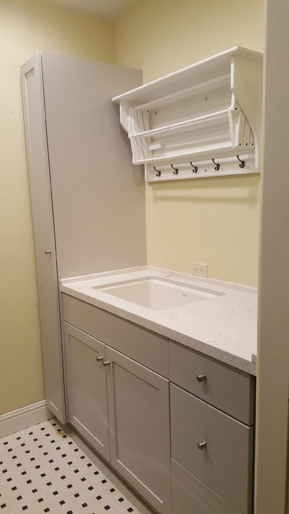 laundry room remodel by IE cabinets