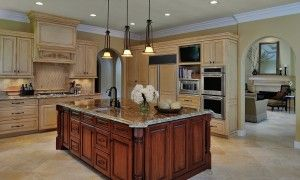 kitchen island contrasting highlight photo