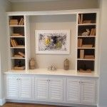 entry way cabinets and book shelves