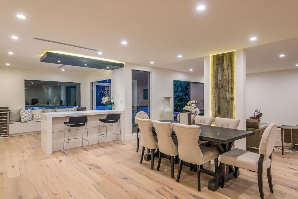contemporary dining room remodel