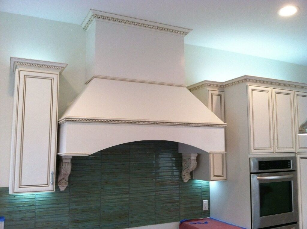 Stove Vent Hood and Cabinets