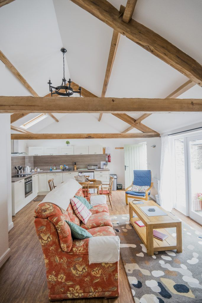 Interior of newly converted english country cottage