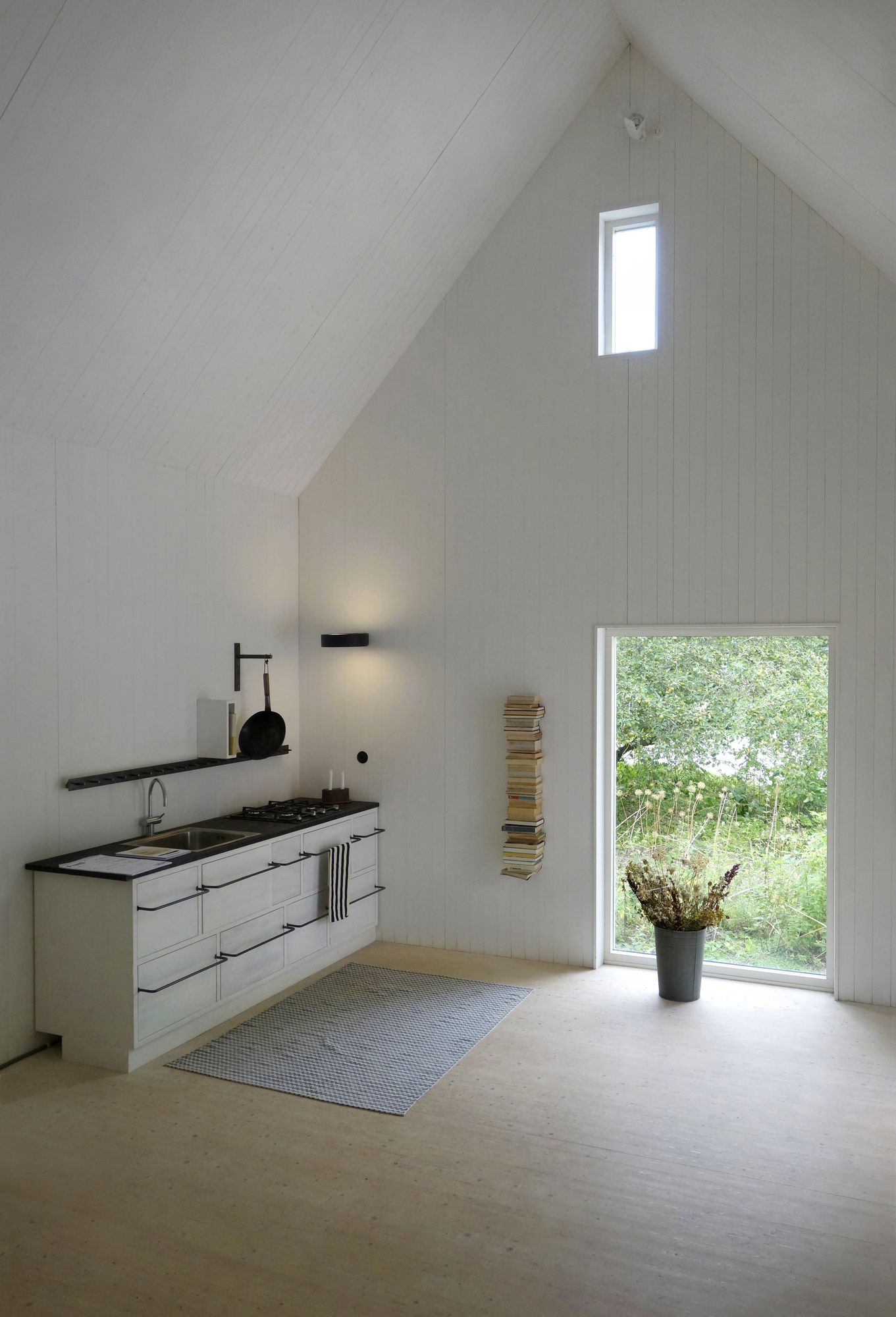scandinavian remodel of old farmhouse