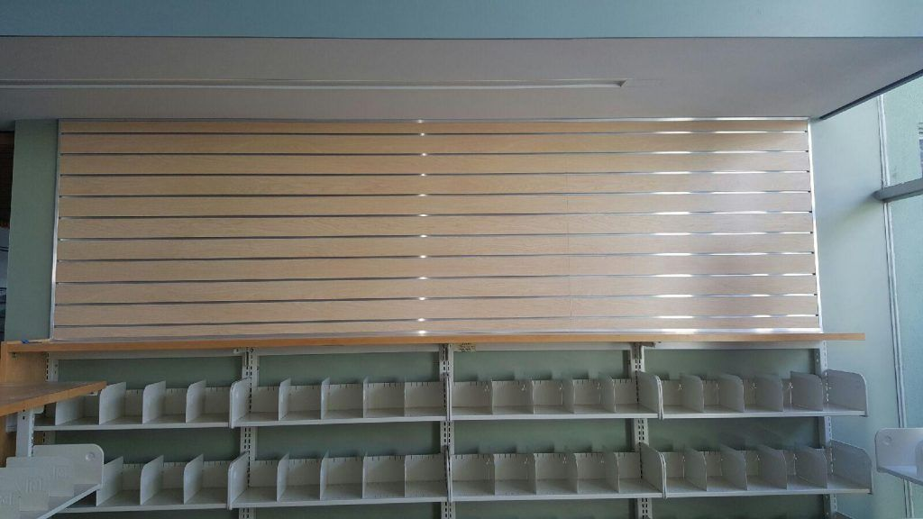 Fairview Santa Monica, what you see is a slat wall they can hang brackets and display items they want to sell.