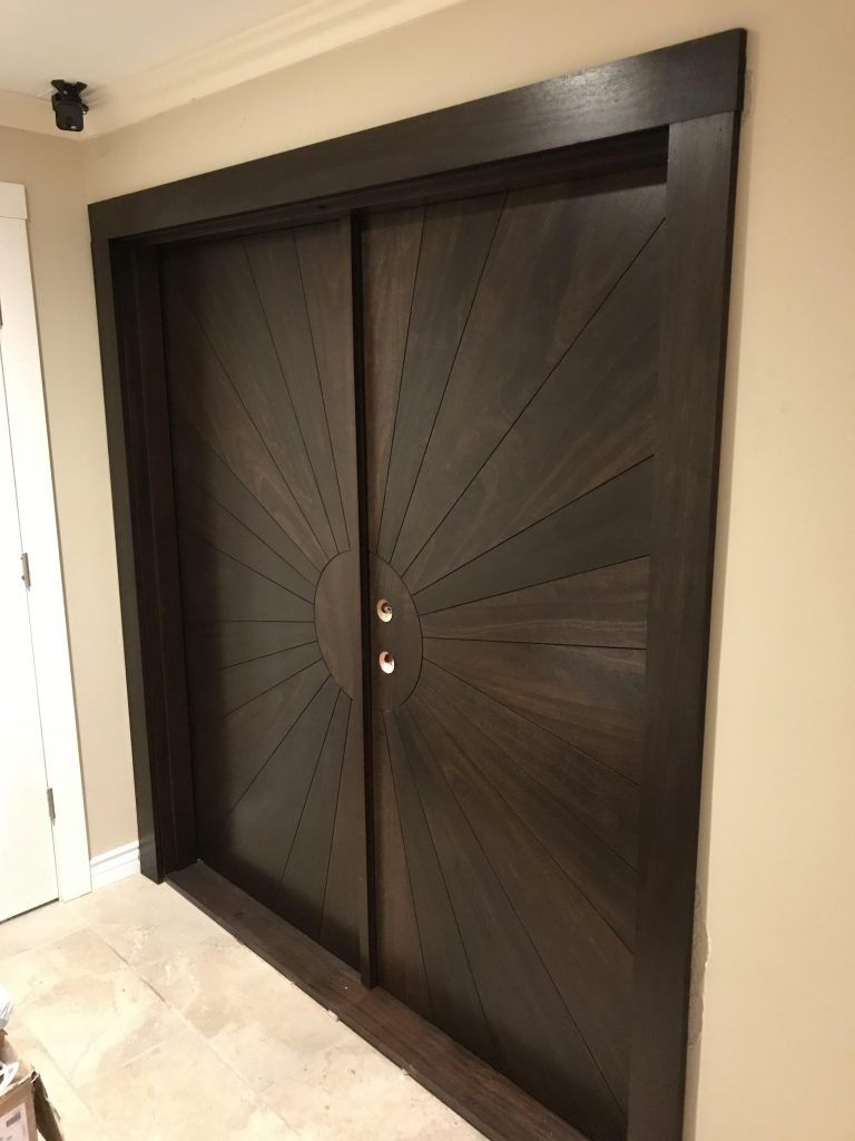 wood double doors by I&E