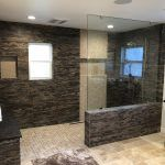 Huge bathroom with stone in Van Nuys California