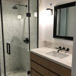 bathroom remodel with wood custom cabinets (2)