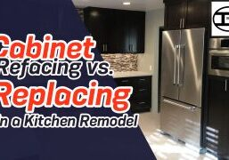 Reface vs Replace Cabinets in a kitchen remodel